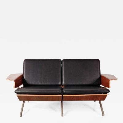 Cornelis Zitman 1964s Rare Cornelis Zitman Two Seat Leather Sofa