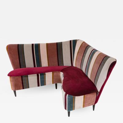 Corner Sofa Settee Italy 1960s