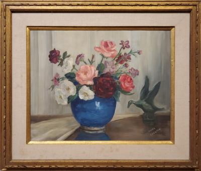Corrine Jackson Still Life Oil Painting By Corinne Jackson circa 1935