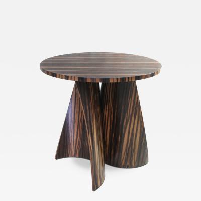 Costantini Design Andino Custom Bentwood Round Side Table in Macassar Ebony