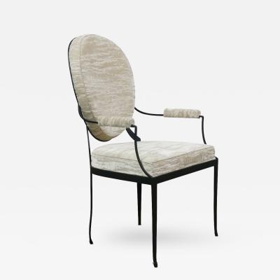 Costantini Design Andre Forged Iron and Upholstered Chair Customizable
