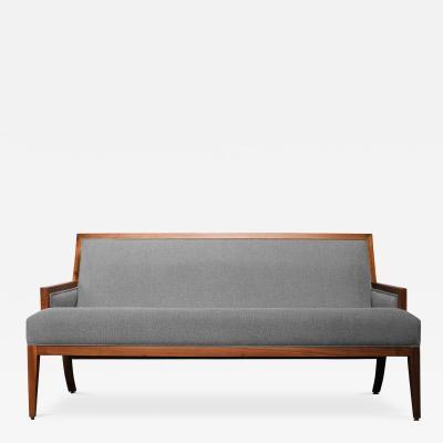 Costantini Design Belgrano Contemporary Rosewood Settee Customizable