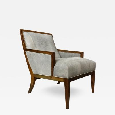 Costantini Design Belgrano Rosewood and Leather Lounge Chair Custom