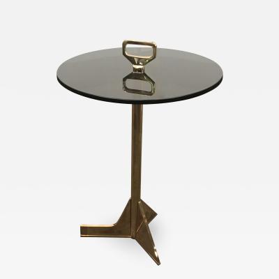 Costantini Design Bellance Occasional Cigarette Table in Cast Bronze and Glass