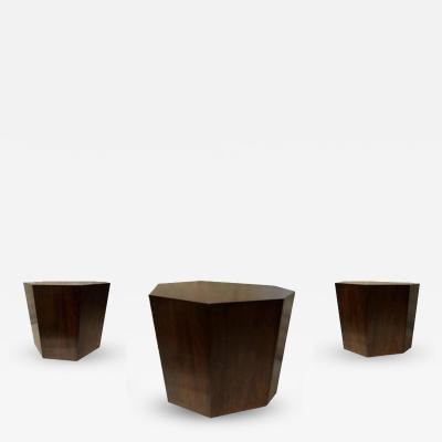 Costantini Design Clariss Geometric Occasional Table in Argentine Rosewood