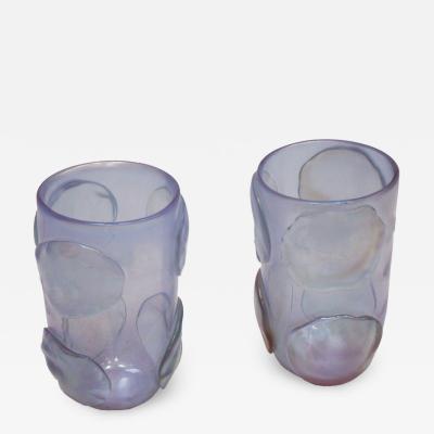 Costantini Design Costantini Murano Glass Italian Pair of Vases