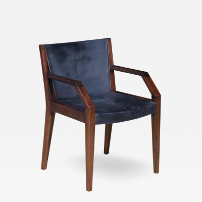 Costantini Design Giovanni Armchair in Argentine Rosewood and Wrapped Leather