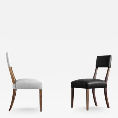 Costantini Design Luca High Back Dining Chair in Argentine Rosewood and Leather