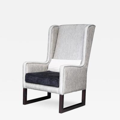 Costantini Design Matteo High Back Wing Chair in Kravet Fabric