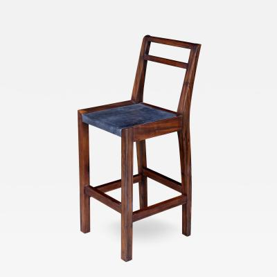 Costantini Design Orianna Stool in Argentine Rosewood and Wrapped Leather