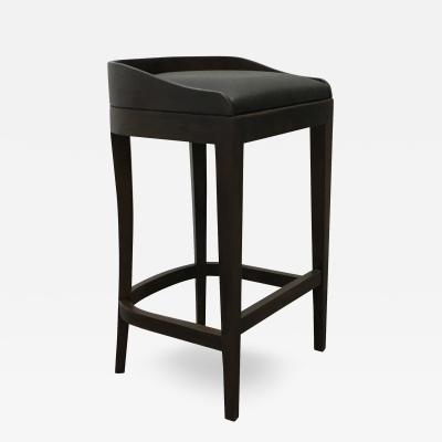 Costantini Design Pia Stool in Argentine Rosewood and Wrapped Leather