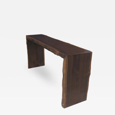 Costantini Design Pietro Contemporary Custom Live Egde Console Table in Argentine Rosewood
