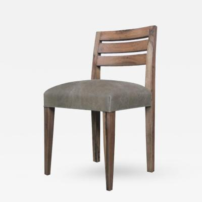 Costantini Design Renzo Contemporary Argentine Rosewood and Leather Side Chair from Costantini