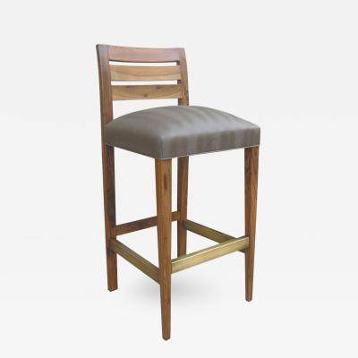 Costantini Design Renzo Contemporary Solid Argentine Rosewood and Stool