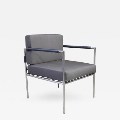 Costantini Design Rinaldo Modern Outdoor Steel Dining Chair with Stitched Arms