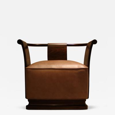 Costantini Design Simone Occasional Chair in Leather and Argentine Rosewood