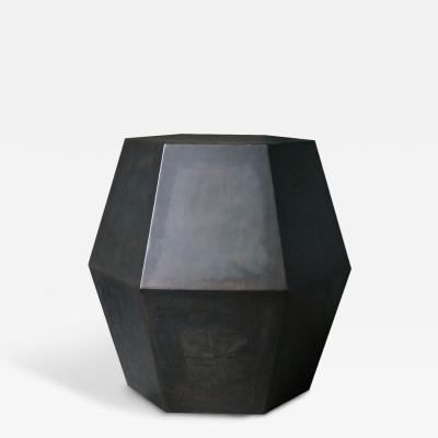 Costantini Design Tamino Hex Modern Side Table in Steel or Parchment