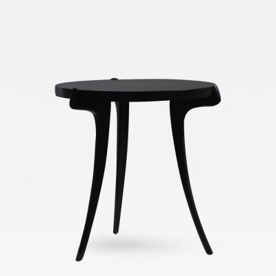Costantini Design Uccello Ebonized Wood Sabre Leg Side Table