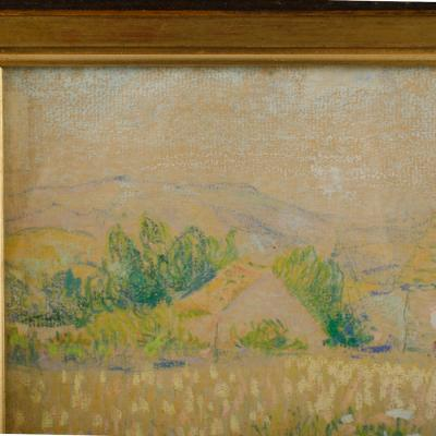 Country Cottage unsigned painting