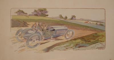 Coupe Gordon Bennett from 10 Ans De Courses by Ernst Montaut 1907 1908