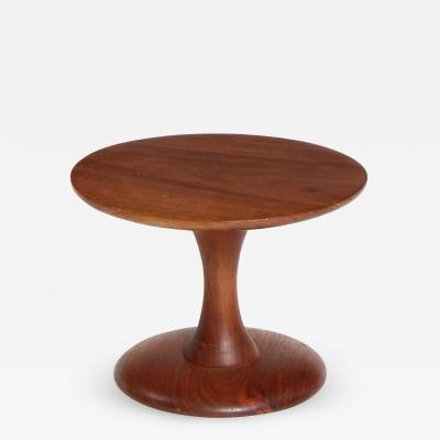 Craftsman Walnut Turned Pedestal or Stool