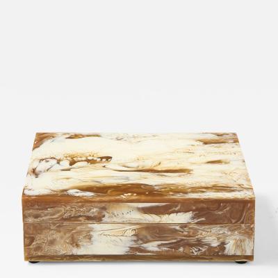 Cream Honey Colored Resin Box