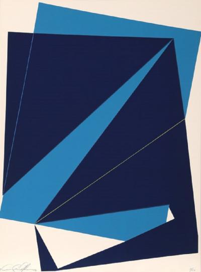 Cris Cristofaro Navy and Blue Rectangles