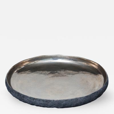 Cristina Salusti Ceramic Vessel with Platinum and Gold by Cristina Salusti