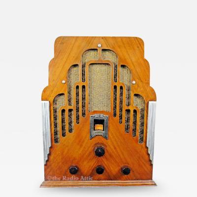 Crosley Art Deco 179 Dual Four Antique Tombstone 1934 Radio