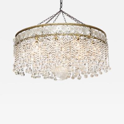 Crystal Ball Art Deco Chandelier