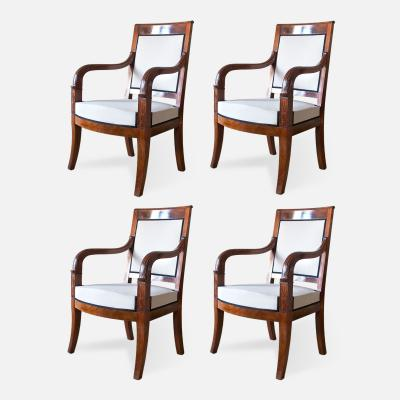 Cuban Mahogany Open Arm Chairs