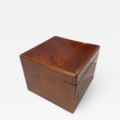 Cuboid Biedermeier Casket Box Mahogany From Vienna circa 1830