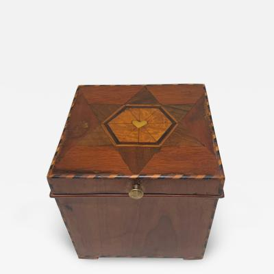 Cuboid Jewelry Box Walnut Ebony Mother of Pearl Austria Vienna circa 1830