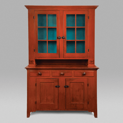 Ohio Two Piece Step Back Cupboard c 1840
