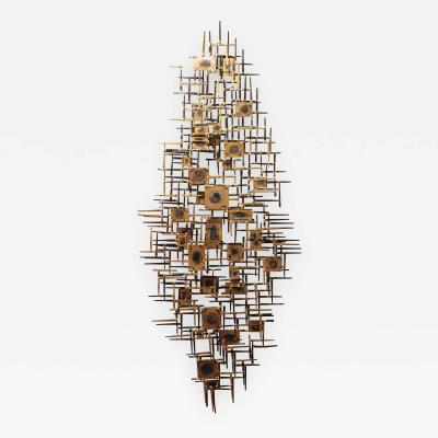 Curtis Jer American Modern Abstract Metal Nail Sculpture