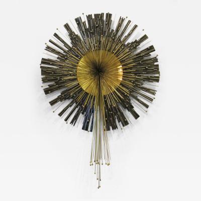 Curtis Jer American Modern Abstract Round Starburst Sculpture
