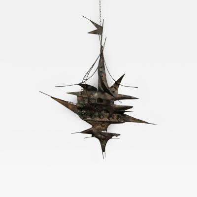 Curtis Jer Brutalist Metal Wall Sculpture Curtis Jere Style