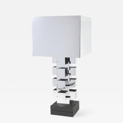 Curtis Jer C Jere Artisan House Chrome Table Lamp circa 1970s
