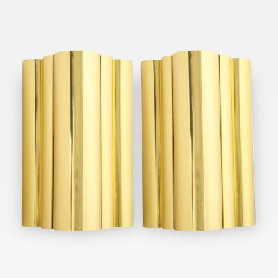 Curtis Jer C Jere Style Brass Sconces