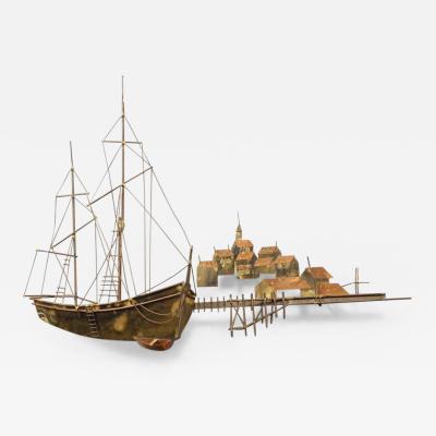 Curtis Jer Curtis Jer Ship Wall Sculpture