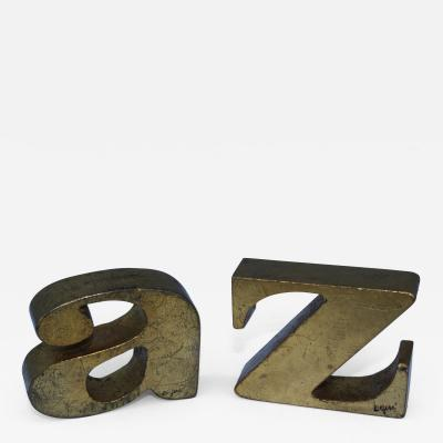 Curtis Jer Curtis Jere A Z Iron Bookends