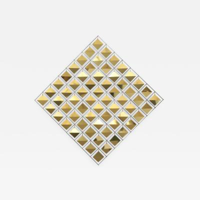 Curtis Jer Curtis Jere Brass Diamond Kinetic Wall Sculpture