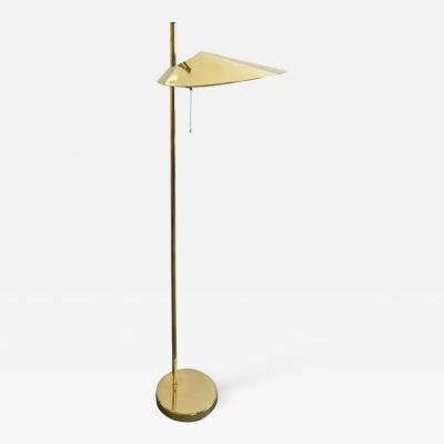 Curtis Jer Curtis Jere Brass Lily Pad Floor Lamp