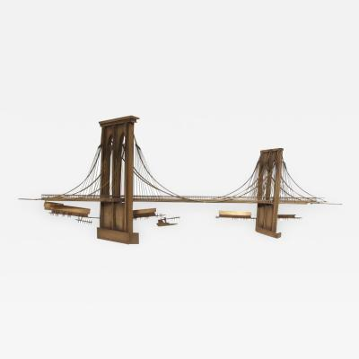 Curtis Jer Curtis Jere Brooklyn Bridge Brass Wall Sculpture USA 1996