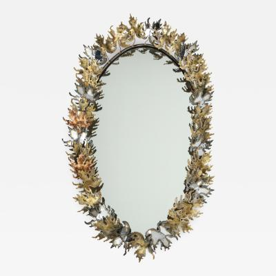 Curtis Jer Curtis Jere Brutalist Wall Mirror