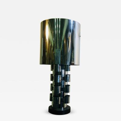 Curtis Jer Curtis Jere Chrome Sky Scraper Table Lamp
