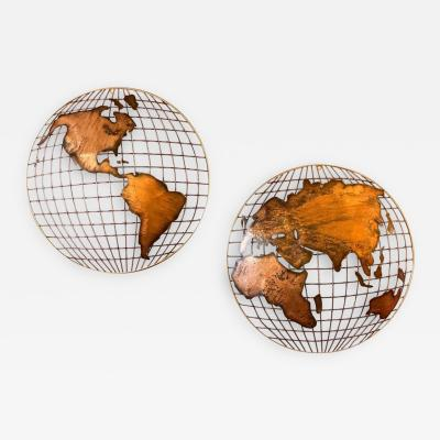 Curtis Jer Curtis Jere Globe Wall Sculpture