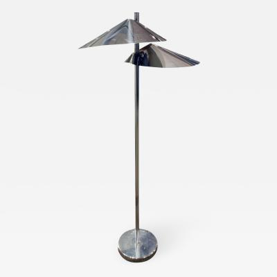 Curtis Jer Curtis Jere Lily Pad Chrome Floor Lamp 1960s
