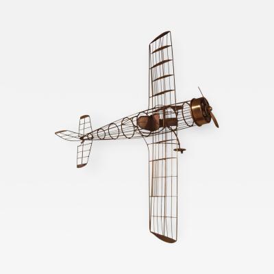 Curtis Jer Curtis Jere Modernist Airplane Wall Sculpture