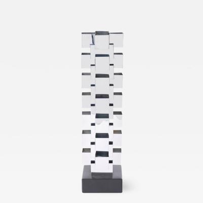Curtis Jer Curtis Jere Stacked Chrome Geometric Skyscraper Lamp